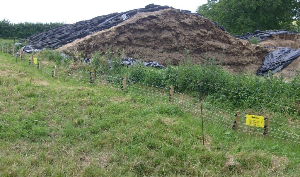 Badger proof fencing around hay storage - TB hub