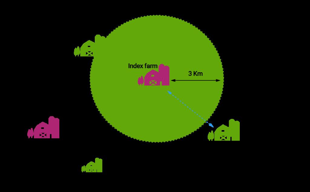 Radial testing diagram - Bovine TB